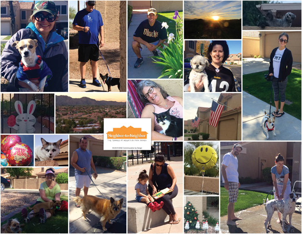 Photo montage of residents of The Townes at Mountain Park Ranch