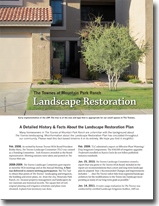 The Townes at Mountain Park Ranch Landscape restoration History Report image
