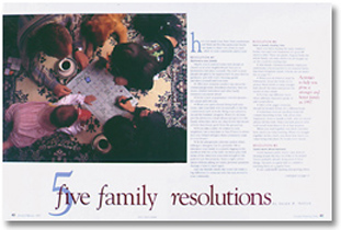 Family resolutions spread